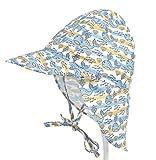 AMUSTER Sonnenhut für Kinder Jungen Mädchen Hut Tierdruck Sonnencreme Hut Baby Outdoors Cap Baby Schöne Hut Baby Mädchen SonnenHut Beach Hut Outdoor Hut (One size, E)