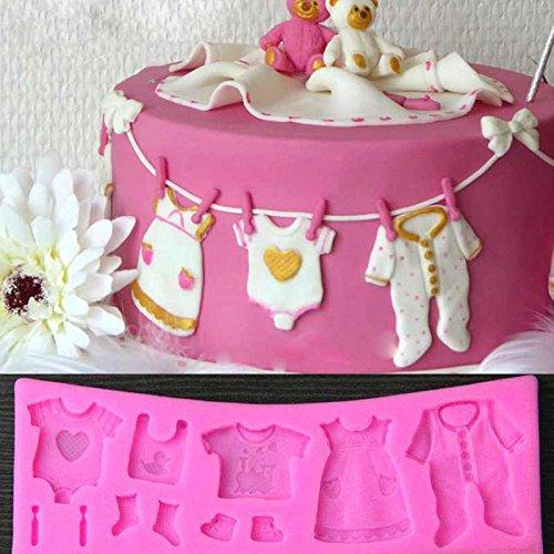 Kuchenform Kinder Backform Silikon 3D Baby-Kleidung Kuchenform Kindergeburtstag Baby-Kleidung Form 3D Silikon Fondant Form Kuchen Werkzeug Deko Kuchen Form