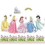GenialES Princesa Pegatina de Pared Adhesivos DIY Vinilo Decorativo Adhesivo PVC para Dormitorio de Niños 60*190cm