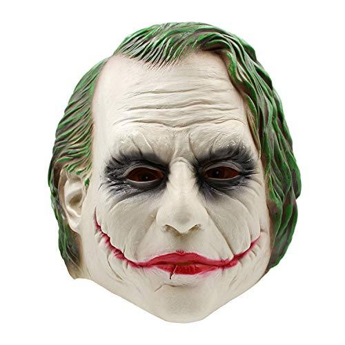 Mit Haaren Maske - Perfekt Für Fasching, Karneval Halloween - Kostüm Für Erwachsene Latex,Clown-OneSize ()