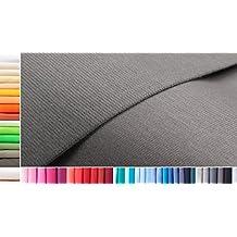 Jersey tejido de algodón XXL por metros|doble: 90 cm ancho|simple: 180 cm ancho|Color: 46 Gris ratón|0,25 m largo|100 % algodón|más de 50 colores a elegir|Jersey|1buy3
