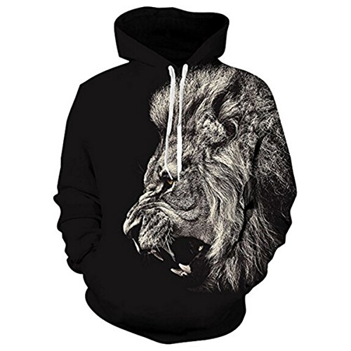Animal Hoodie Damen (Idgreatim Damen Lange Ärmel Animal Print Pullover Hoodies Casual Kordelzug Sweatshirt Mit Kapuze)