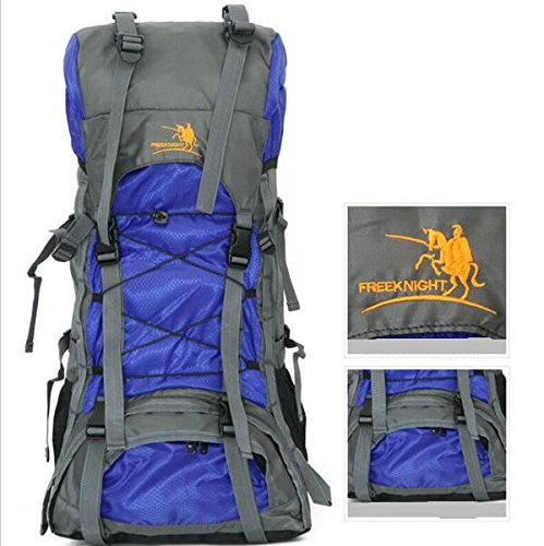 tomill 60L Rucksack Nylon Outdoor Sport Camping Bergsteigen Tasche Wandern Rucksack Große Kapazität für Reisen Blau