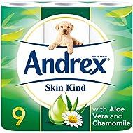 Andrex Skin Kind Toilet Tissue, with Aloe Vera - 9 Toilet Rolls