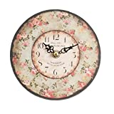 Uhr Clayre & Eef Rosen Shabby Chic 15cm Wanduhr Nostalgie Vintage rosa creme