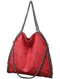 Para Bolsos Amazon Hombro Shoppers Rojo Y Mujer De es wqOf0qS