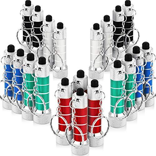 20 Stücke Mini Taschenlampen Schlüsselbund 5 Lampen Led Schlüsselanhänger für Camping Kinder Party Favors (Stil 4)