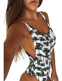 175eec0bc2bb Rawdah Bikini Donna Mare calzedonia Uno Pezzo Intero Sportivo Imbottiti  Costume da Bagno Ananas Stampare Bikini