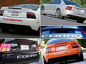 Sf Sales Usa Schwarze Hintere Stoßstangen Buchstaben Für Mustang Cobra 2003 2004 Hintere Einsätze Keine Aufkleber Auto