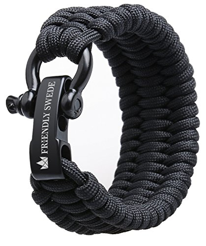 The Friendly Swede Einstellbares Trilobit Paracord Survival Überlebens-Armband -