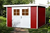 weka Gartenhaus 227 Gr.3, schwedenrot, 21 mm