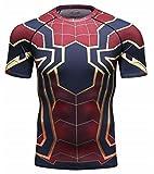 Cody Lundin Film Version Superhelden Shirt Herren Sport Fitness Jogging Kompression T-Shirt Spider Held Engen T-Shirt (XL, Color-c)