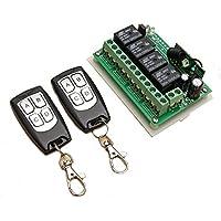 Telecomandi INSMA® Telecomando Cancello Universali 12V 4CH 200M Telecomando Senza Fili Interruttore 2 Transceiver con 1 Ricevitore