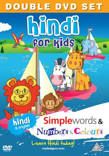 Preisvergleich Produktbild Hindi for Kids DVD Set: Simple Words & Number and Colours (Hindi and English) [Region 2]