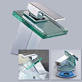 Efecto cascada con grifo Auralum grifo mezclador monomando para baño