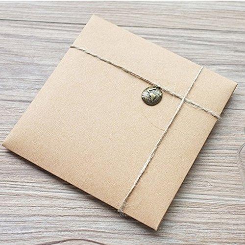 Kraftpapier Briefumschläge | 50 Stück - 6
