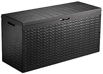 Auflagenbox / Gartentruhe XL aus Kunststoff, 320 Liter mit Rollen von Centi auf Du und dein Garten