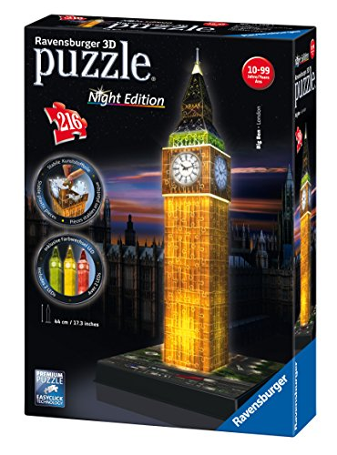 Ravensburger Big Ben - Night Edition, 216pc 3D Jigsaw Puzzle�