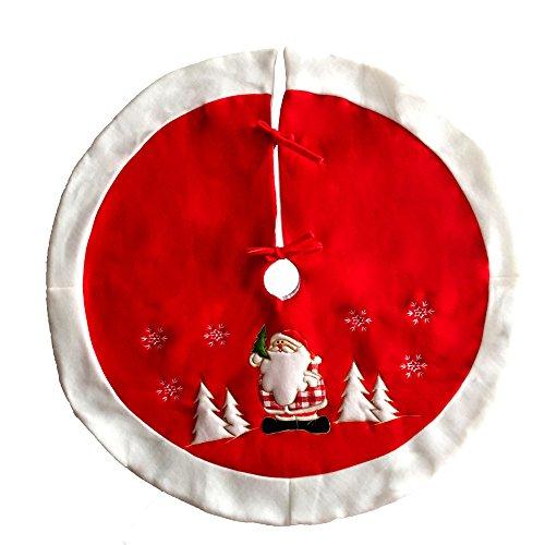 fanxing Home Küche Reinigung 90cm Neu Urlaub Stil Rot/Weiß Filz Schneeflocke Weihnachtsbaum Rock - Schneeflocke Baum Rock