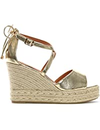 2d38019444a DF By Daniel Bismark Gold Metallic Top Lace Wedge Espadrilles