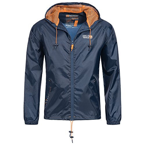 Geographical Norway 79P1 Nijak Herren Regen Jacke Navy L