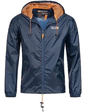 Geographical Norway Nijak Chaqueta para lluvia para hombre Outdoor Casual con capucha