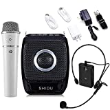 SHIDU S92 Voice Amplifier, 25 Watts Portable PA System, with 7.4V/2600mAh Rechargeable Lithium