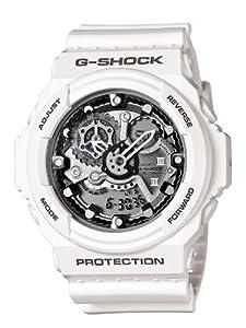 Reloj Casio GA-300-7AER y digital de cuarzo para hombre con correa de resina, color blanco de Casio