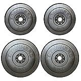 TrainHard Hantelscheiben Gewichte aus Kunststoff Zement Gesamtgewichte 30kg (2x5kg, 2x10kg)