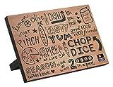RICHARDSON SHEFFIELD Doodle magnetischer Messerblock, Holz, schwarz, 22.2 x 13.5...