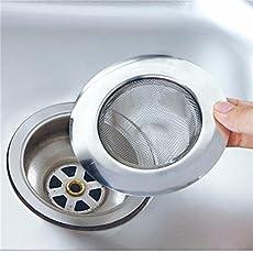Skywalk Stainless Steel Sink Strainer Kitchen Drain Basin Basket Filter Stopper Sink Drainer Sink Jali (Size-9cm)