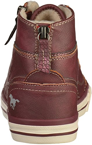 Mustang 1209-601 Womens Lace-Up Flats Rot(Bordeaux)