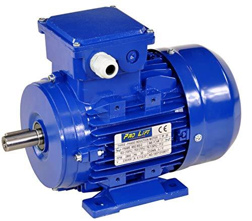 Pro-Lift-Werkzeuge 3-Phasen Drehstrommotor 1,1 kW 380 V Elektromotor 2860 U/min Industriemotor electric motor B3 Drehstrom 1100W 230V/400V
