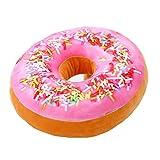 niceEshop(TM) Mignon Coussin Décoratif en Peluche sous Forme de Donut pour Canapé, Voiture et Voyage (Rose et Orange)
