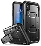 i-Blason iPhone Xs Max Case, [Armorbox] [Built in Screen