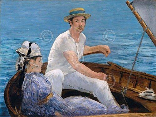Wassersport, 1874Edouard Manet Impressionismus Vintage Man Wasser Poster (wählen Sie Größe, Kunstdruck oder Leinwand), 53.3x43.2 Unstretched Canvas (Inc Man Gallery Art)
