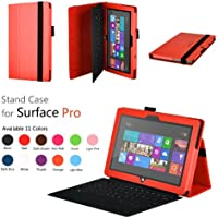 CaseGuru SurfaceProBasicstandCase - Funda para tablet Microsoft Surface Pro 10.6 (resistente a rayones, función soporte), rojo