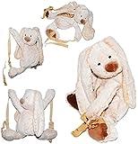 alles-meine.de GmbH großer XL _ 3-D Rucksack & Kuscheltier -  süßer Hase  - Plüsch Kinderrucksack / Plüschtier - für Kinder & Erwachsene - Kindergartenrucksack Kindertasche - M..