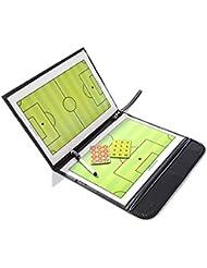 odowalker fútbol fútbol entrenadores táctica Junta Trainning assisitant equipos estrategia ayuda, piel sintética con marcador piezas y write-wipe Pen