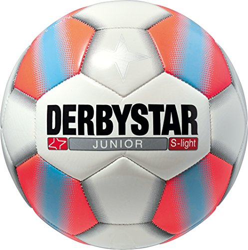 Derbystar Fußball Junior S-Light, Kinder Trainingsball, Ball Größe 5 (290 g), weiß orange, 1758