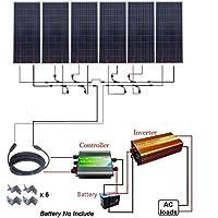 eco-worthy 6x 160W 900W 24V off Grid Solar System W/1500W 220V inverter per uso domestico