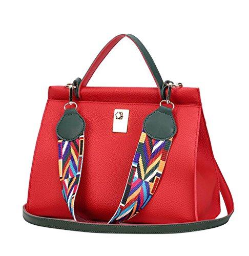 YouPue Handtaschen Damen Groß Für Leinentrage Tasche Konstrukteur Imitat Leder Berühmtheit Stil Neu Rot