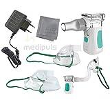 Premium inalatore Mini Compatto ad ultrasuoni con moderno a membrana della tecnologia e grande vernebelung Potenza & # X2507; a casa o in movimento–con extra di & # X2507; per adulti e bambini