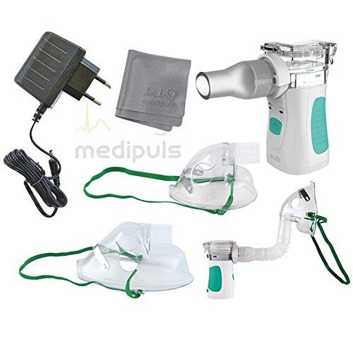 Premium Ultraschall-Inhalationsgerät Kompakt Mini mit moderner Mikromembran-Technologie und großer Vernebelungsleistung + Zubehör┇Inhalator klein für Zuhause oder Unterwegs┇Für Erwachsene + Kinder