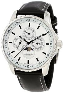 Stührling Reloj 214L.33152 de Caballero movimiento de cuarzo con correa de piel de Diamant Feuer