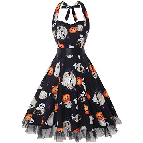 SCHOLIEBEN 50Er Jahre Kleid Kleider Sommerkleid Damen Sommer Vintage 60Er Elegant Rockabilly Petticoat Festlich Sexy Schöne Knielang A-Linien Abendkleid Partykleid