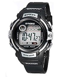 Reloj de Pulsera para Niños Redondo Reloj Digital con Funciones de  Cronómetro Cronógrafo Alarma y Pantalla 1498057bcf68