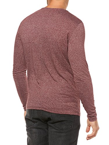 Hilfiger Denim Herren Pullover Thdm Cn Knit L/S 39 Rot (Windsor Wine 674)