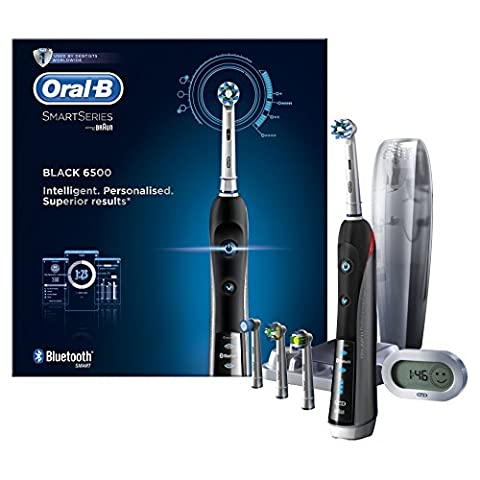 Oral-B Smart Series 6500 Electric Rechargeable Toothbrush Powered by Braun - Black