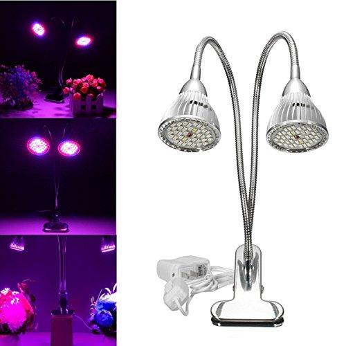 HTAIYN Plante de culture hydroponique à clip flexible de 15W double LED popular